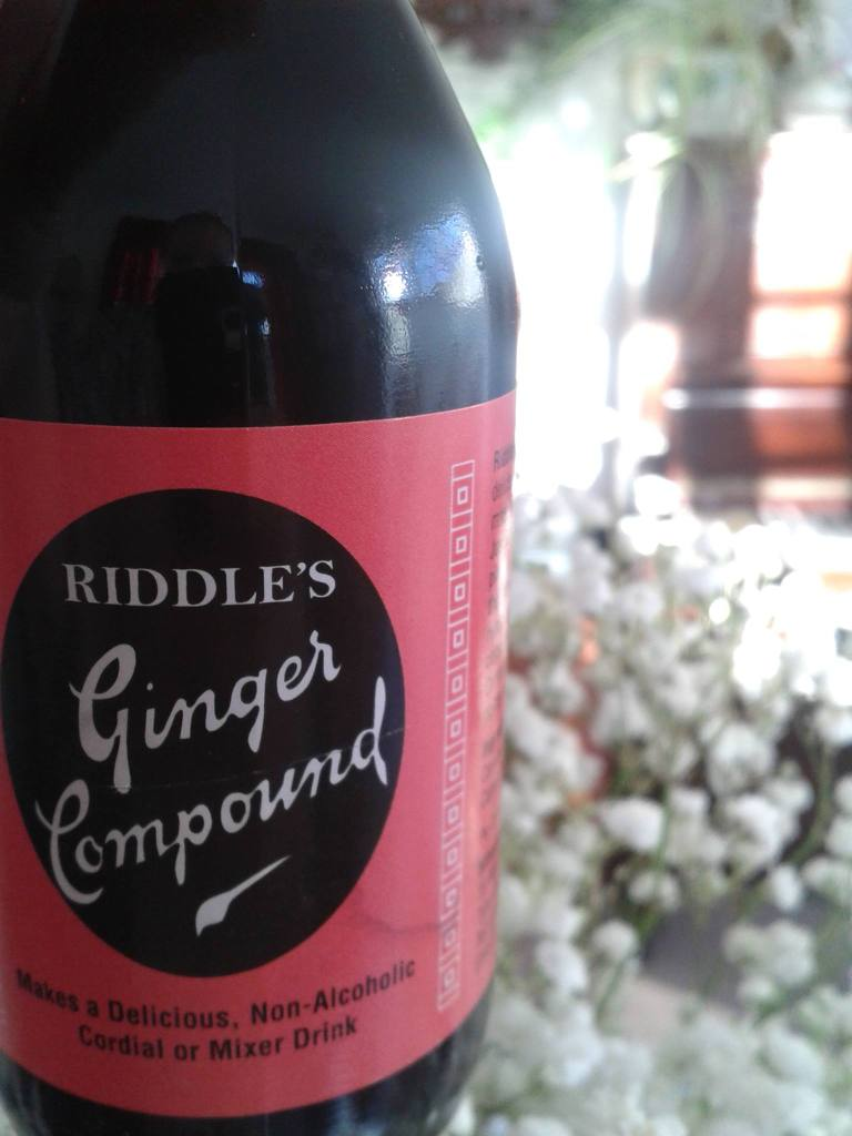 Riddle's Ginger Compound. Sounds a little bit sinister.